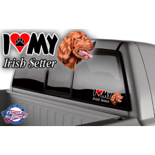 i love my irish setter truck window stcker decal