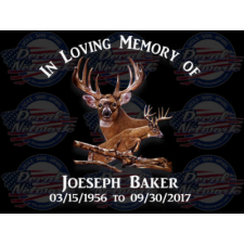 in loving memory buck deer decal