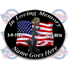 in loving memory decals soldier boots usa
