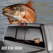 redfish fishing sticker