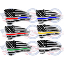 first responder police emt american flags