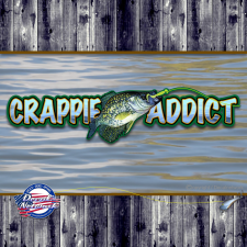 crappie addict decal
