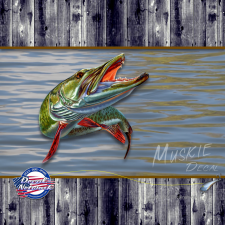 MUSKIE fish decal sticker