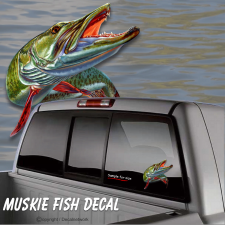 muskie fishing sticker