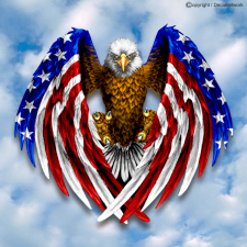 patriotic eagle flag decal