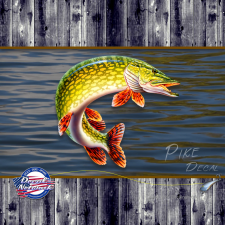 PIKE fish decal sticker