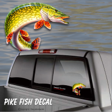 pike fishing sticker