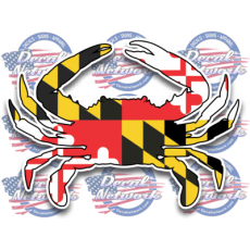 maryland blue crab decal