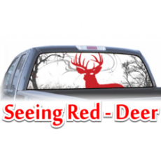 seeing red deer