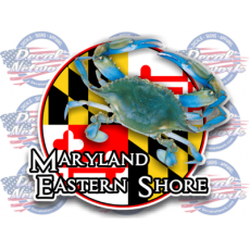 maryland flag decal eastern shore blue crab