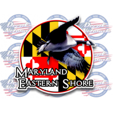 maryland flag decal eastern shore goose