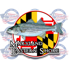 maryland flag decal eastern shore rock fish striped bass