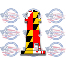 maryland flag ships wheel decal