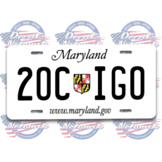 maryland license plate 2ocigo decal