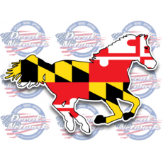 maryland flag horse decal