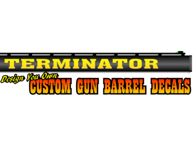 Custom Gun Barrel Vinyl Decals Design Online - Custom gun barrel stickersgun barrel decals