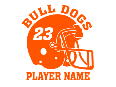 personalized football melmet vinyl decal