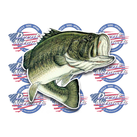 large mouth bass vinyl fish decal