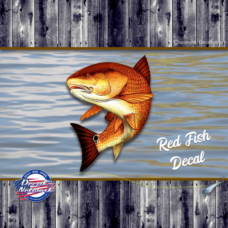 Redfish red fish decal