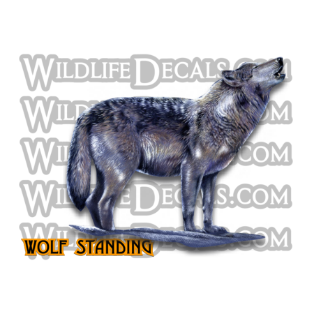 wolf standing decal