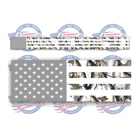 American flag camo decal