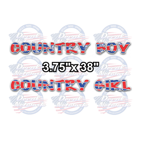 rebel flag country boy girl decal