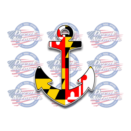 maryland FLAG SHIP ANCHOR decal