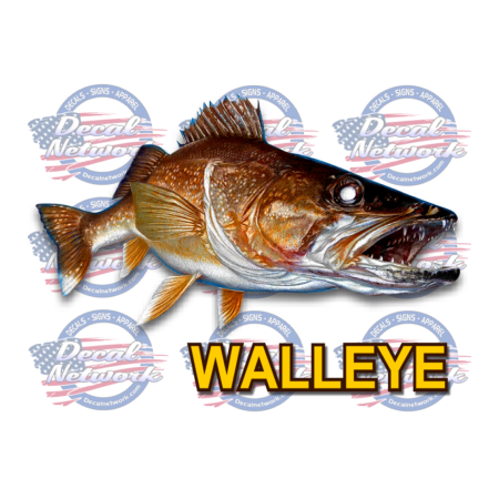 walleye sticker decal