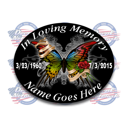 in loving memory decals butterfly