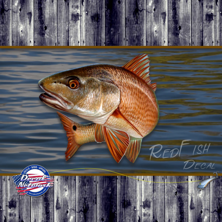 red fish decal sticker