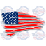 schredded American flag decal
