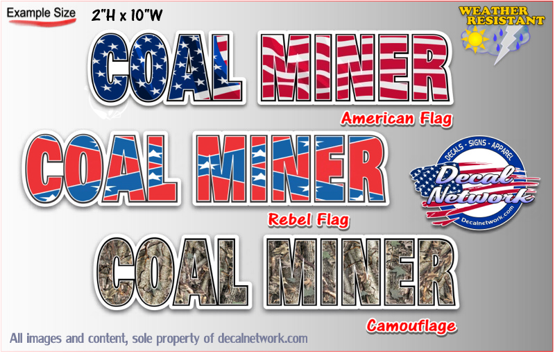 coal miner vinyl decal sticker
