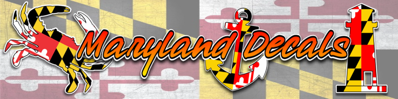 maryland flag ocean city vinyl decals