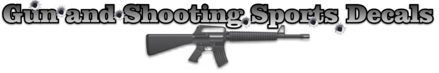 gun shooting decals