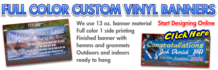 full color business banners
