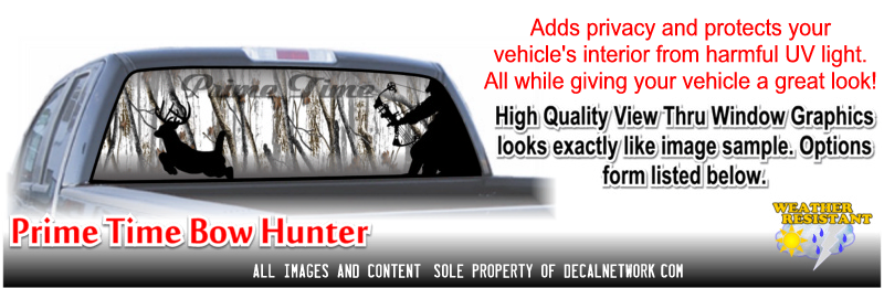 bow hunter camo window graphic