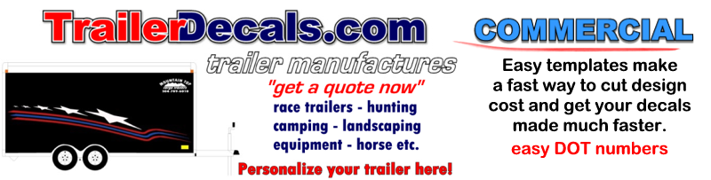 trailer decals truck commercial dot