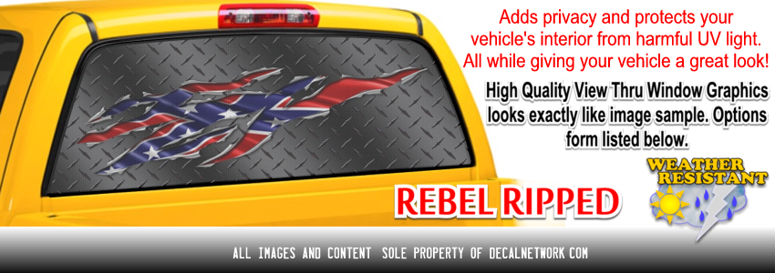 rebel ripped window graphic